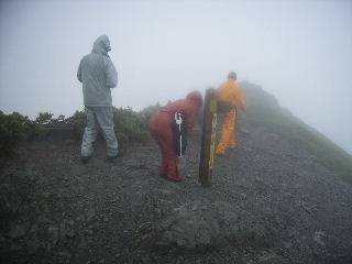 蓮華岳山頂にて