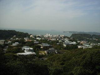 披露山公園から江ノ島方面