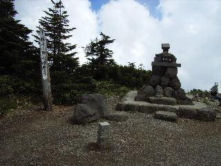 横手山山頂にて