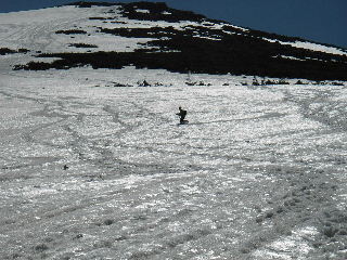 至仏山から大滑降