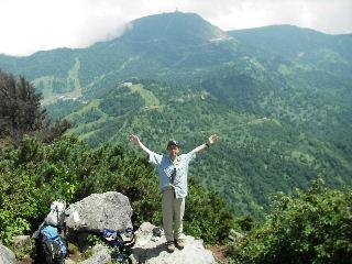 笠ヶ岳頂上にて